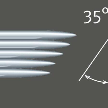7er Nadel flach